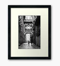Barri Gotic, Barcelona Framed Print