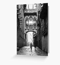 Tarjeta de felicitación Barri Gotic, Barcelona
