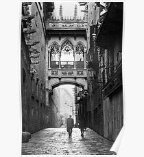 Barri Gotic, Barcelona Poster
