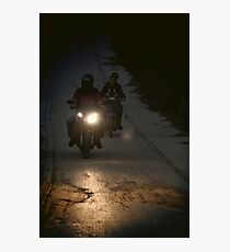 Riding in the night Photographic Print