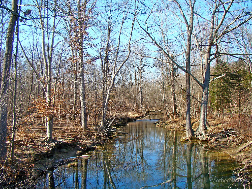 Deep Creek in Winter Slumber - Green Lane  PA by MotherNature