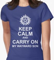 Keep Calm and Carry On My Wayward Son Shirt Womens Fitted T-Shirt