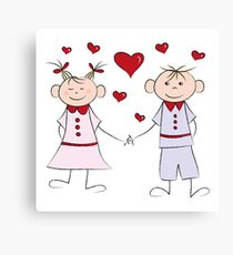 Love Couple Canvas Print
