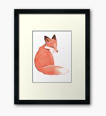Watercolor Fox Framed Print
