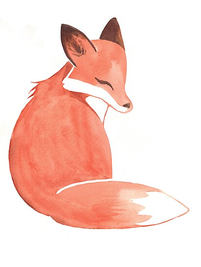 Watercolor Fox by WeileAsh