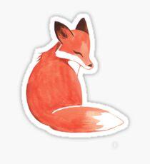 Watercolor Fox Sticker