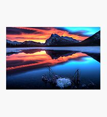 Vermillion Lakes Mount Rundle  Photographic Print