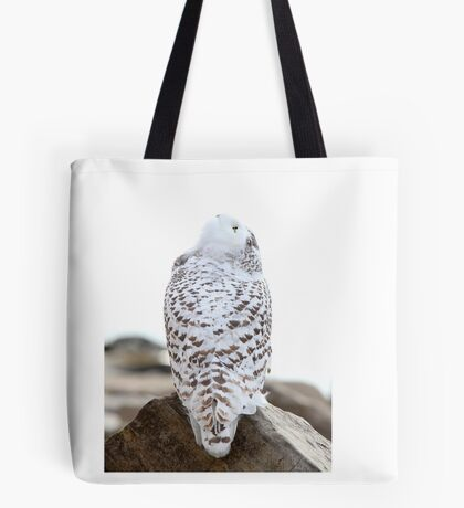 Keep Watching the Skies - Snowy Owl Tote Bag