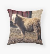 Aint ya never seen a pony before? Throw Pillow