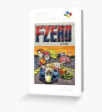 F-Zero Nintendo Famicom Box Art (NES) Greeting Card