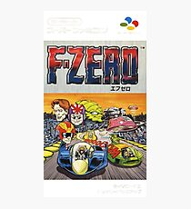 F-Zero Nintendo Famicom Box Art (NES) Photographic Print