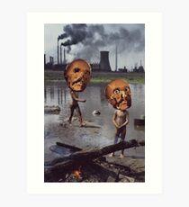 M Blackwell - Work Hazards Art Print