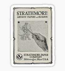 Advertisement for artist's paper 1914 Sticker