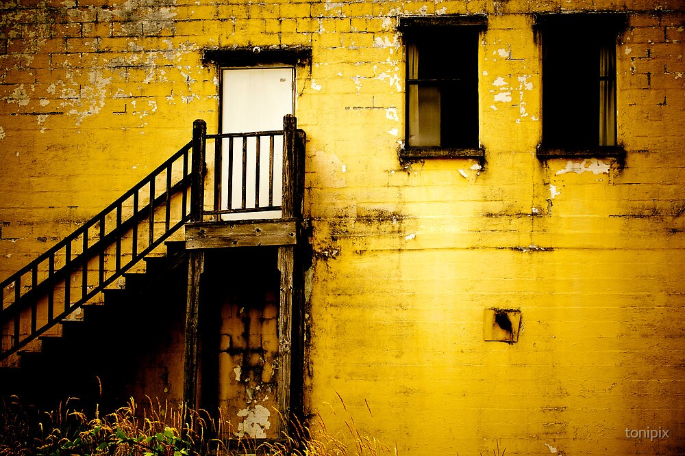 Yellow Abandoned Building by tonipix