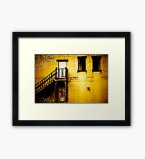 Yellow Abandoned Building Framed Print