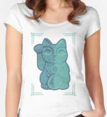 Tiki Lucky Cat Women's Fitted Scoop T-Shirt