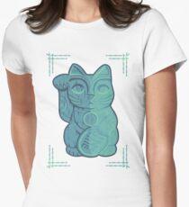 Tiki Lucky Cat Women's Fitted T-Shirt