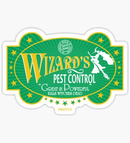 Wizards Pest Control Sticker