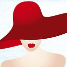Portrait of the lady with the red hat by schtroumpf2510