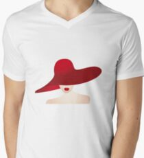 Portrait of the lady with the red hat T-Shirt