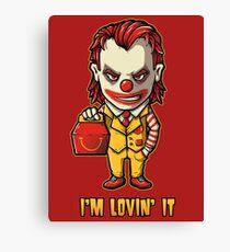 Mc'D Joker - Batman - Mashup Canvas Print