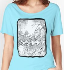 Doodle Collage Shirt Women's Relaxed Fit T-Shirt