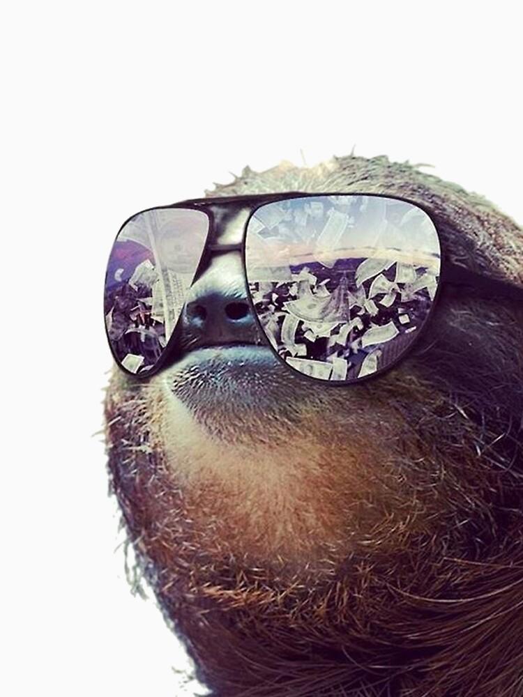 cashmoney sloth w sunglasses unisex t shirt by vizier redbubble