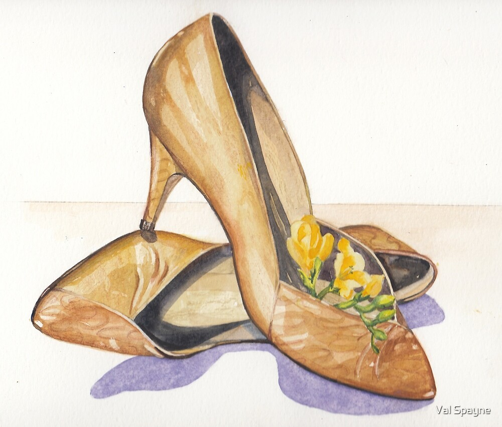 Paulines Shoes by Val Spayne