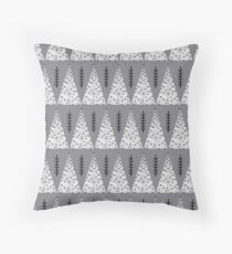 Winter Trees - Grey by Andrea Lauren  Throw Pillow
