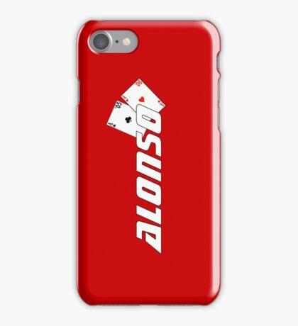 Fernando Alonso (ferrari colours) iPhone Case/Skin