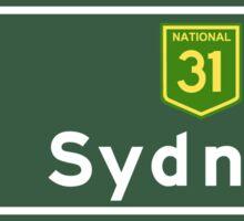 Sydney, Road Sign, Australia  Sticker