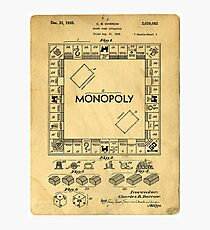 Original Patent for Monopoly Board Game 1936 Photographic Print