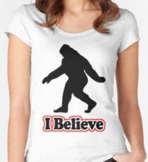 Sasquatch Big Foot T-Shirt Women's Fitted Scoop T-Shirt