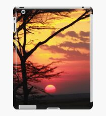 Kenyan Sunset with trees in the foreground iPad Case/Skin