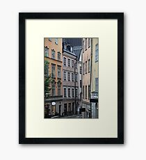 street in old town Framed Print