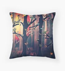 The Woods at Sunset Throw Pillow