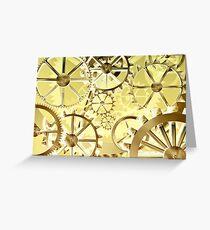 Clockwork steampunk Greeting Card