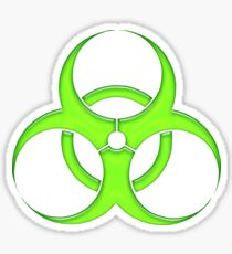 biohazard - organic, bio, hazardous, contaminated, environmentally Sticker