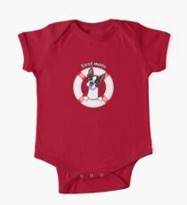 Boston Terrier :: First Mate One Piece - Short Sleeve