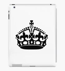 Keep Calm and Carry On Crown iPad Case/Skin