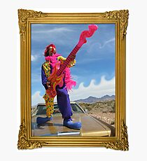 Wacky Clown Guitarist Photographic Print