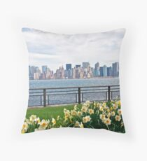 Springtime in New York Throw Pillow