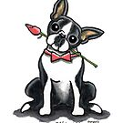Boston Terrier Sweetheart by offleashart