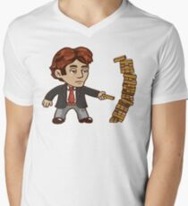 Braid Jenga Mens V-Neck T-Shirt