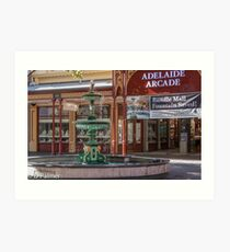 Rundle Mall - Fountain and Historic Arcade Art Print