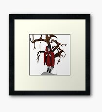 Trapped - Red Framed Print