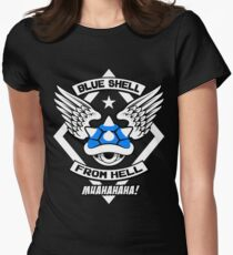 Blue Shell From Hell Womens Fitted T-Shirt