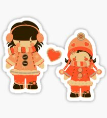 Orange Snow Sisters Sticker