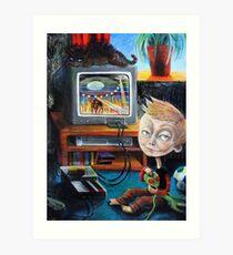 Alien Games Art Print
