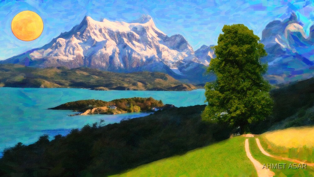 Highlands of Chile Lago Pehoe in Torres del Paine Chile by MotionAge Media